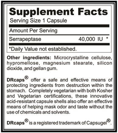Serrapeptase/Systemic Enzymes/Immunity/Inflammation/Heal Scars Tissue|MagnifZyme by Logos Nutritionals